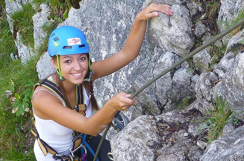 Klettersteigkurs : Klettersteigkurs mit flying fox steiermark freelife