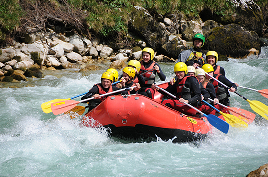 Rafting am Wildwasser